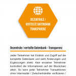 1. Dezentrale / verteilte Datenbank – Transparenz