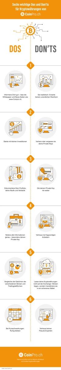 Infografik: Die sechs wichtigsten Dos and Don'ts rund um Kryptowährungen