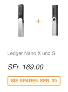 Abbildung Ledger Nano X und Ledger Nano S