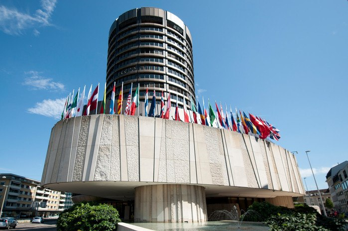 Tower der Bank für Internationalen Zahlungsausgleich in Basel (Schweiz)