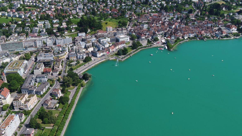 Zug, Schweiz von oben