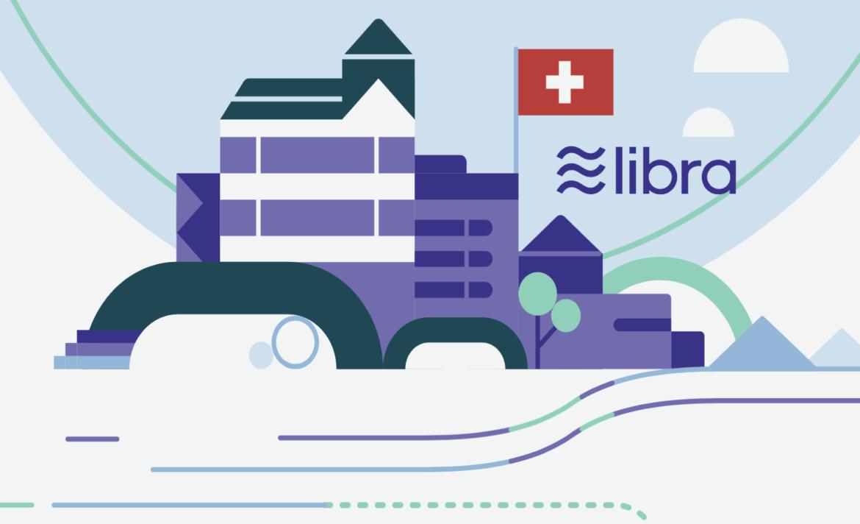 Bild mit Logo von Libra und Schweizer Flagge