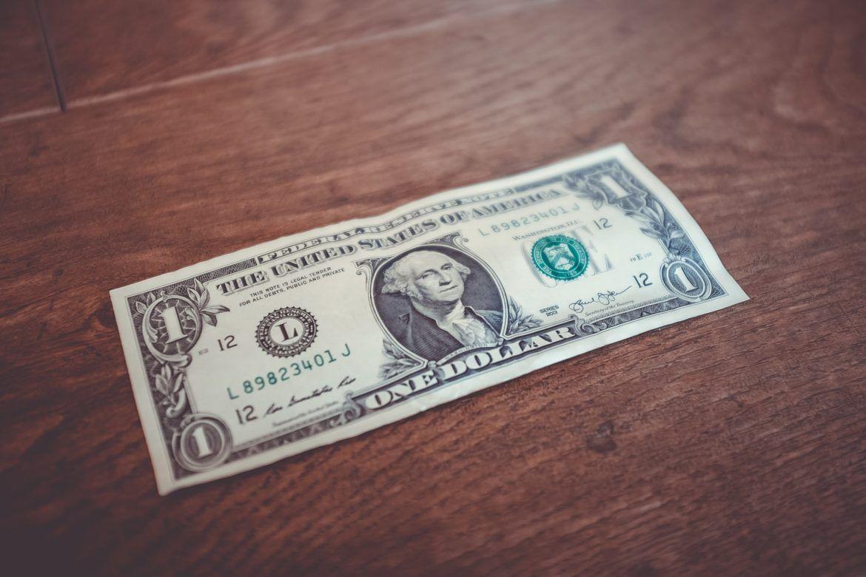 Eine US-Dollar Banknote