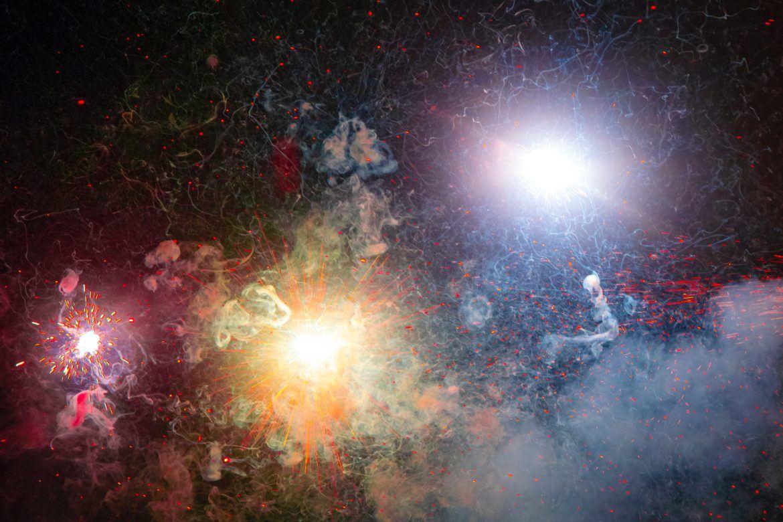 Explosion im Orbit
