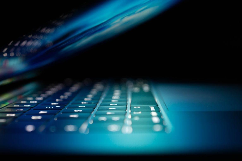 Laptop-Tastatur beleuchtet