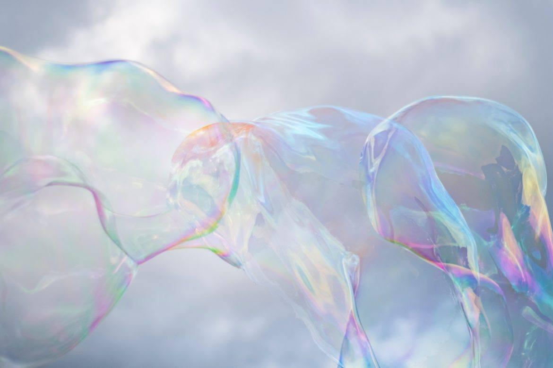 Seifenblasen als Symbol der Bitcoin Blase?