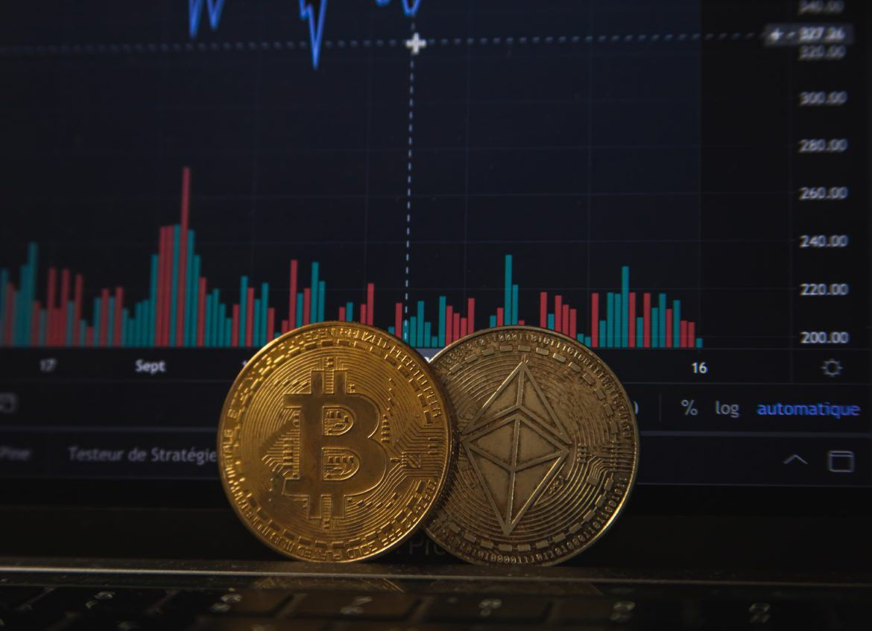 Kursverlauf, Ethereum und Bitcoin