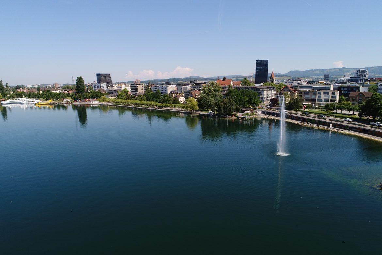 Panoramabild von Zug, Schweiz