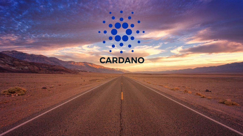 Strasse mit Horizont (Symbol für die Zukunft von Cardano, ADA)