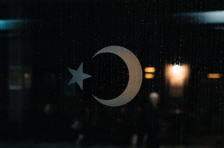 Abbildung der Symbole der Flagge der Türkei