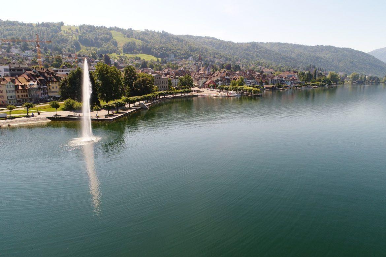 Zug, Schweiz: Das Crypto Valley von oben