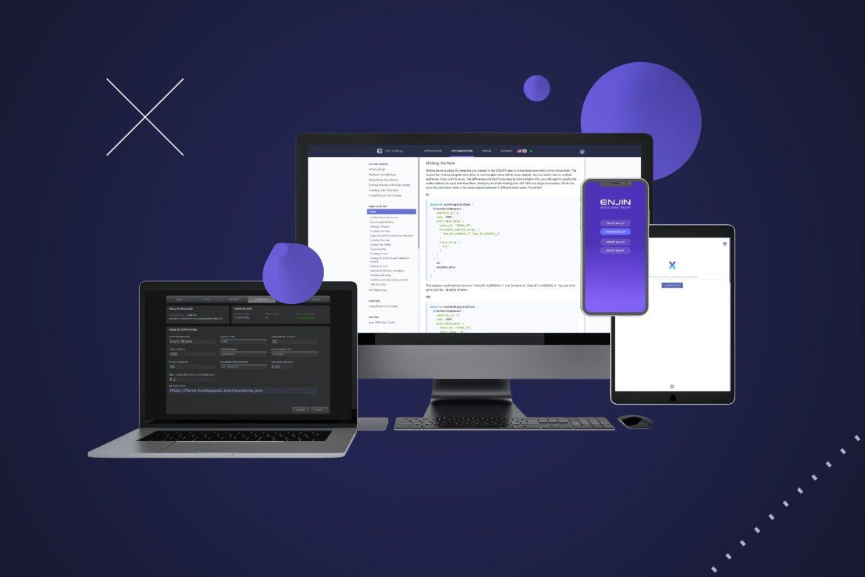 Screenshot der Enjin Plattform