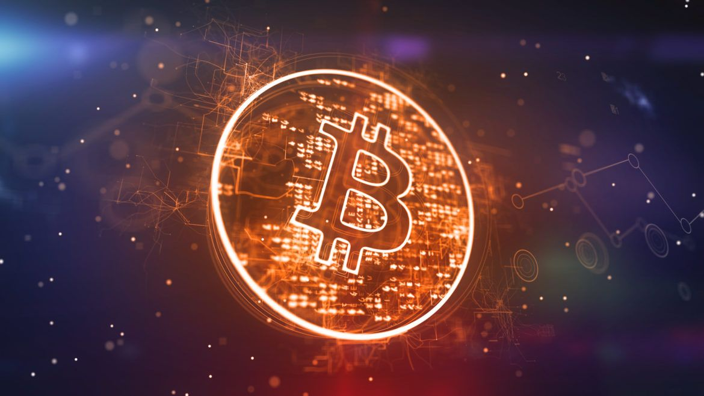 Abbildung einer Bitcoin Münze