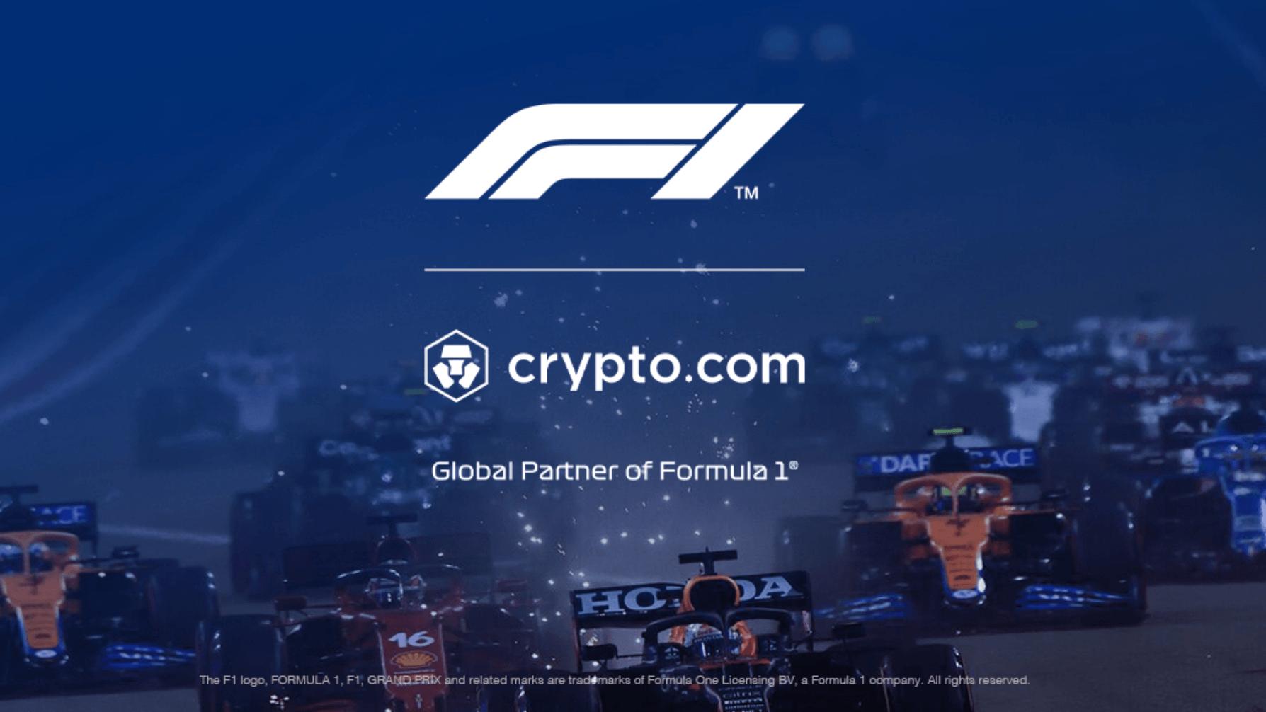Pressebild von Crypto.com zum Sponsoring der Formel 1