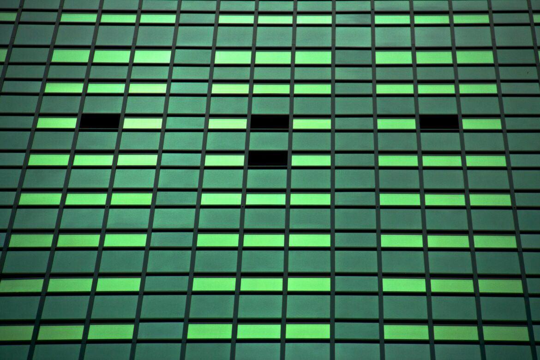 Grüne Vierecke als Symbol für das Taproot Update bei Bitcoin