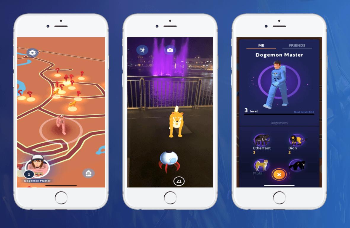 Screenshot von Dogemon Go mobile Game
