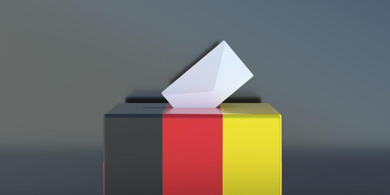 Wahlurne als Symbol für die Bundestagswahlen in Deutschland