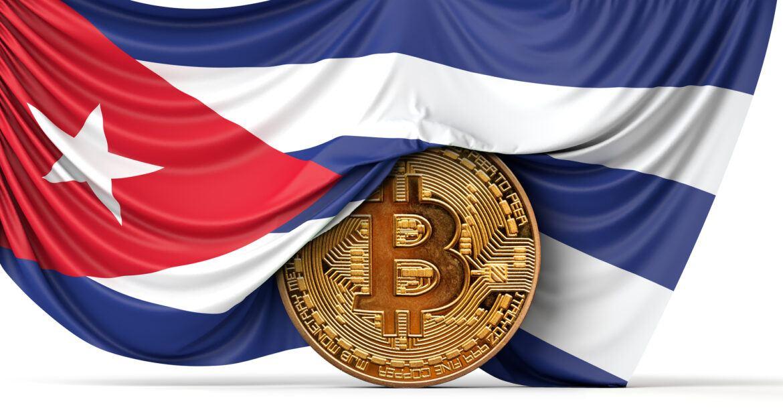 Bitcoin und die Flagge von Kuba