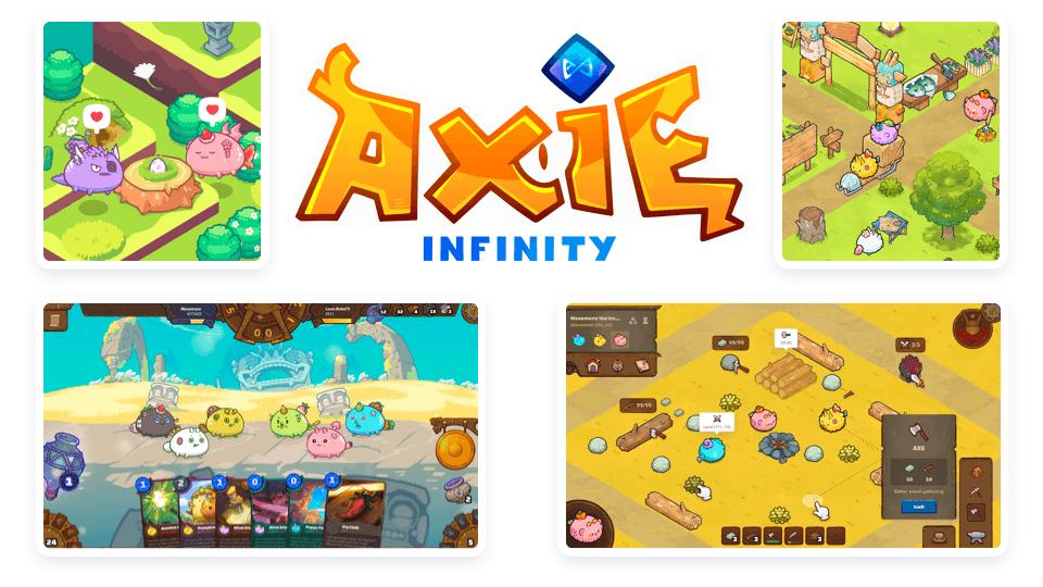Screenshots und Logo von Axie Infinity